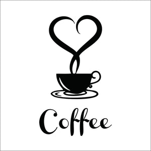 Love Coffee In The Cup Coffee Wall Sticker