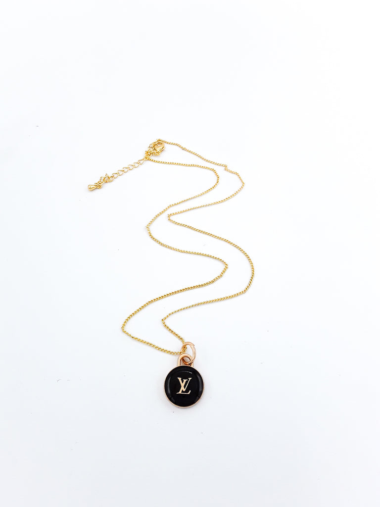 Black Pastilles Charm Necklace