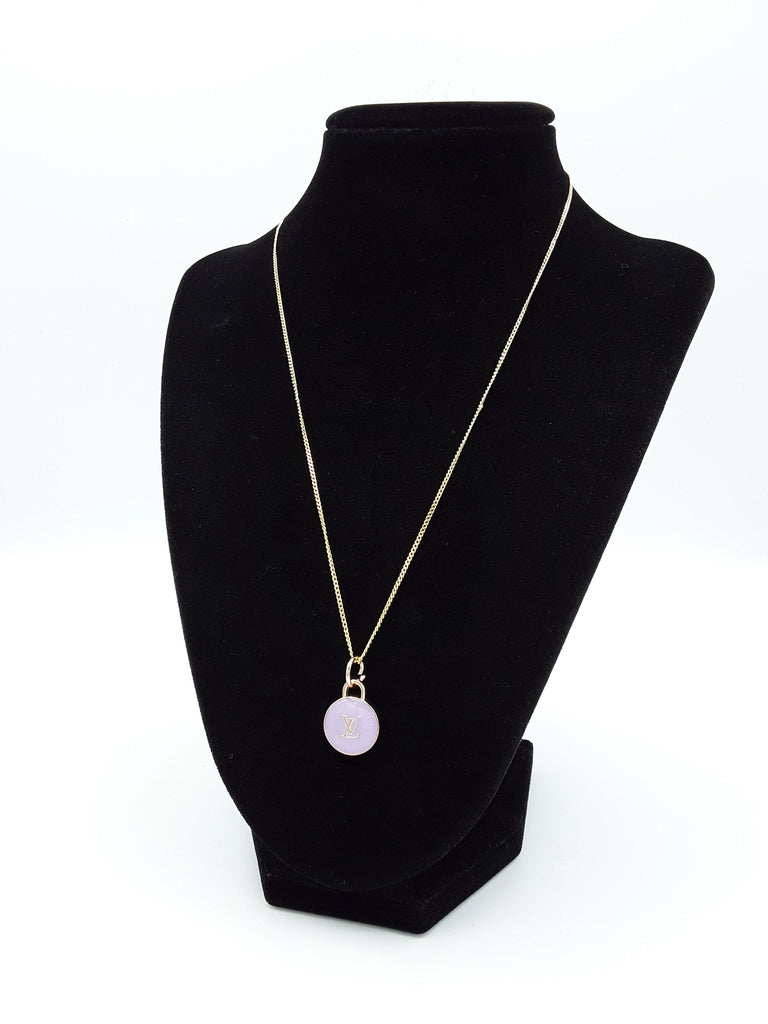 Purple Pastilles Charm Necklace