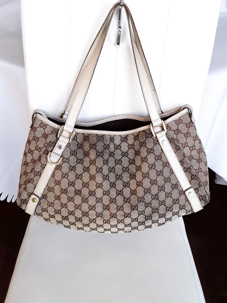 Gucci Monogram Canvas Tote Bag