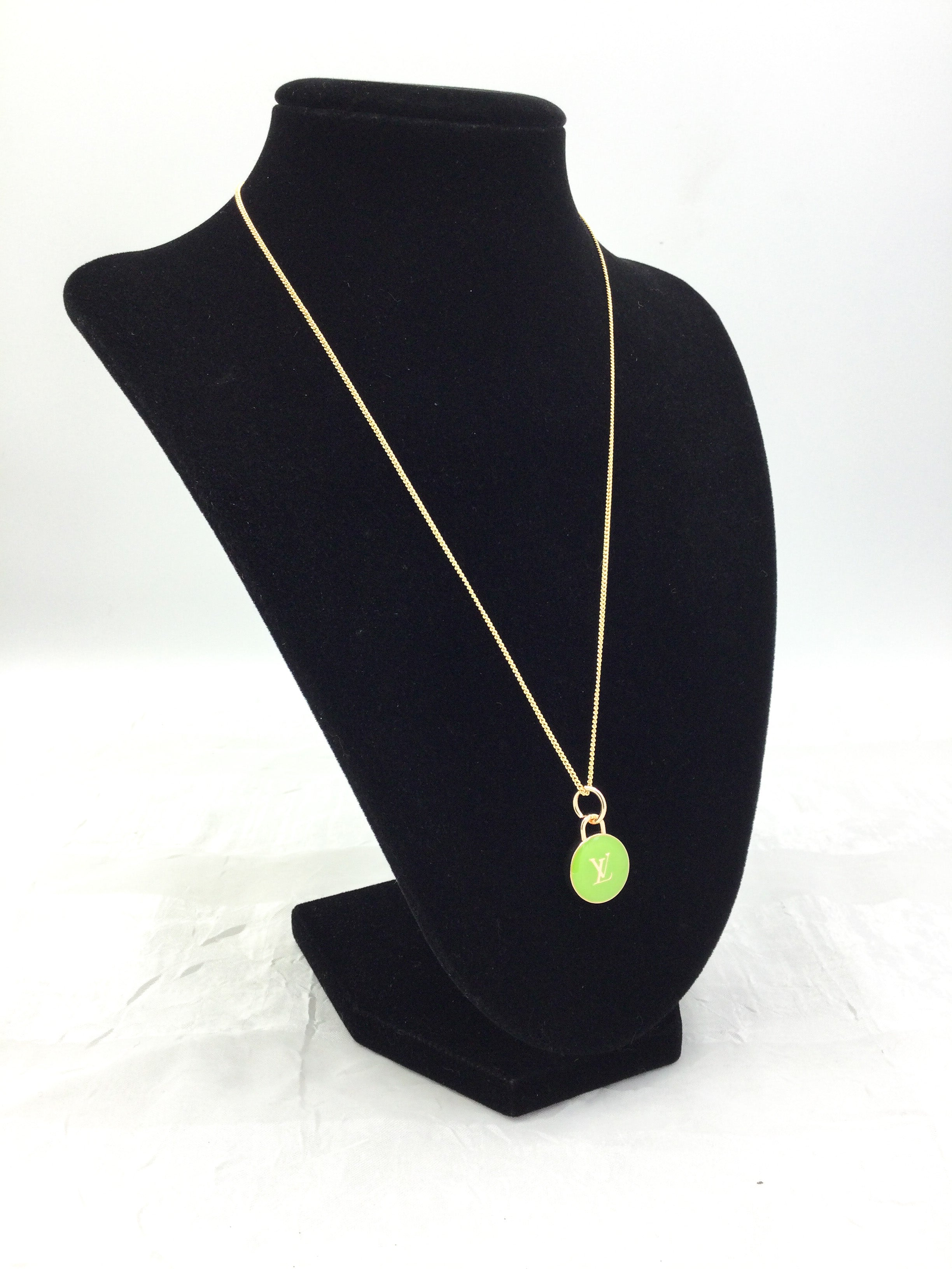 Green Pastilles Charm Necklace