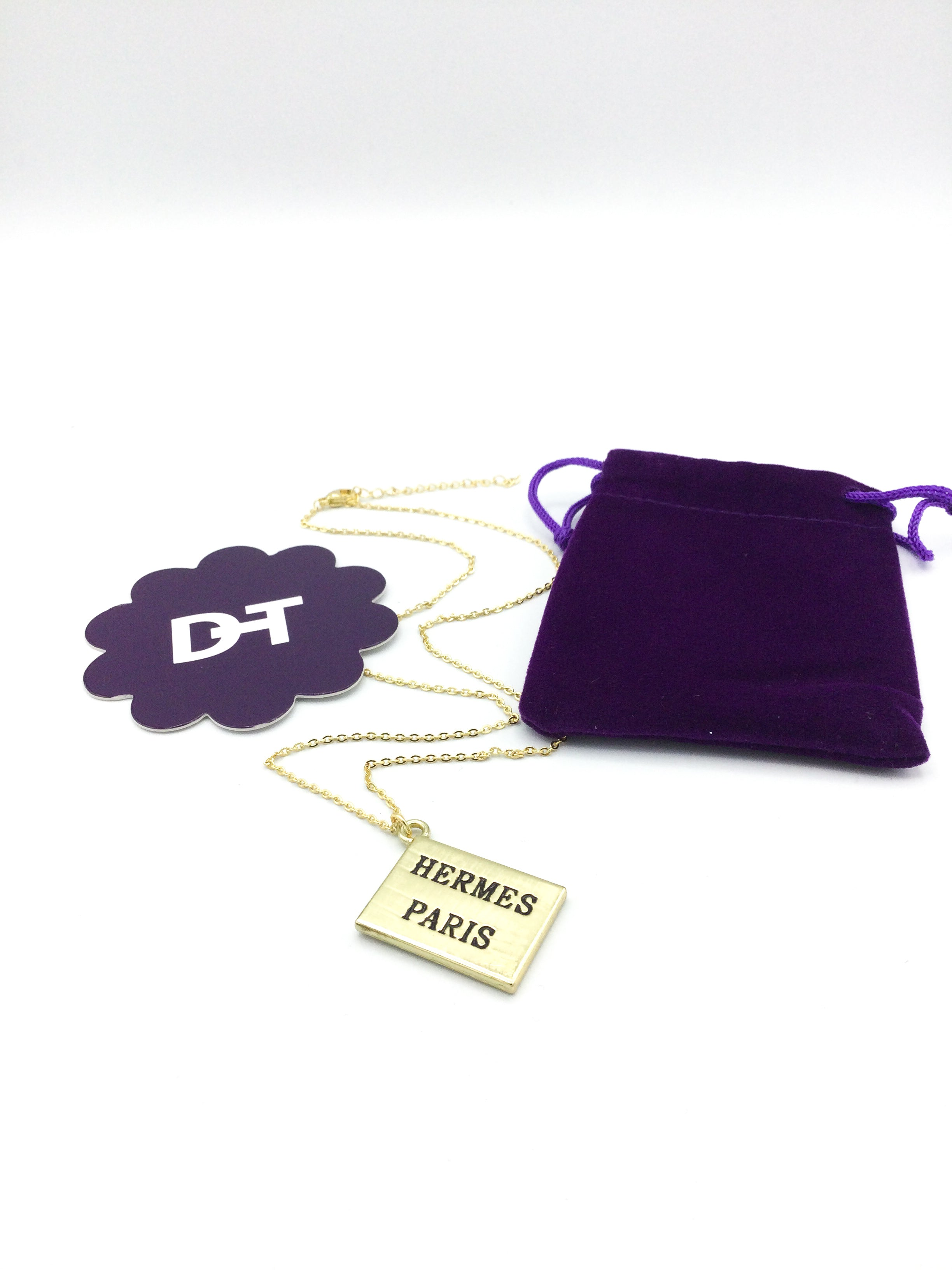 Hermes Bag Charm Necklace by Designer Therapy