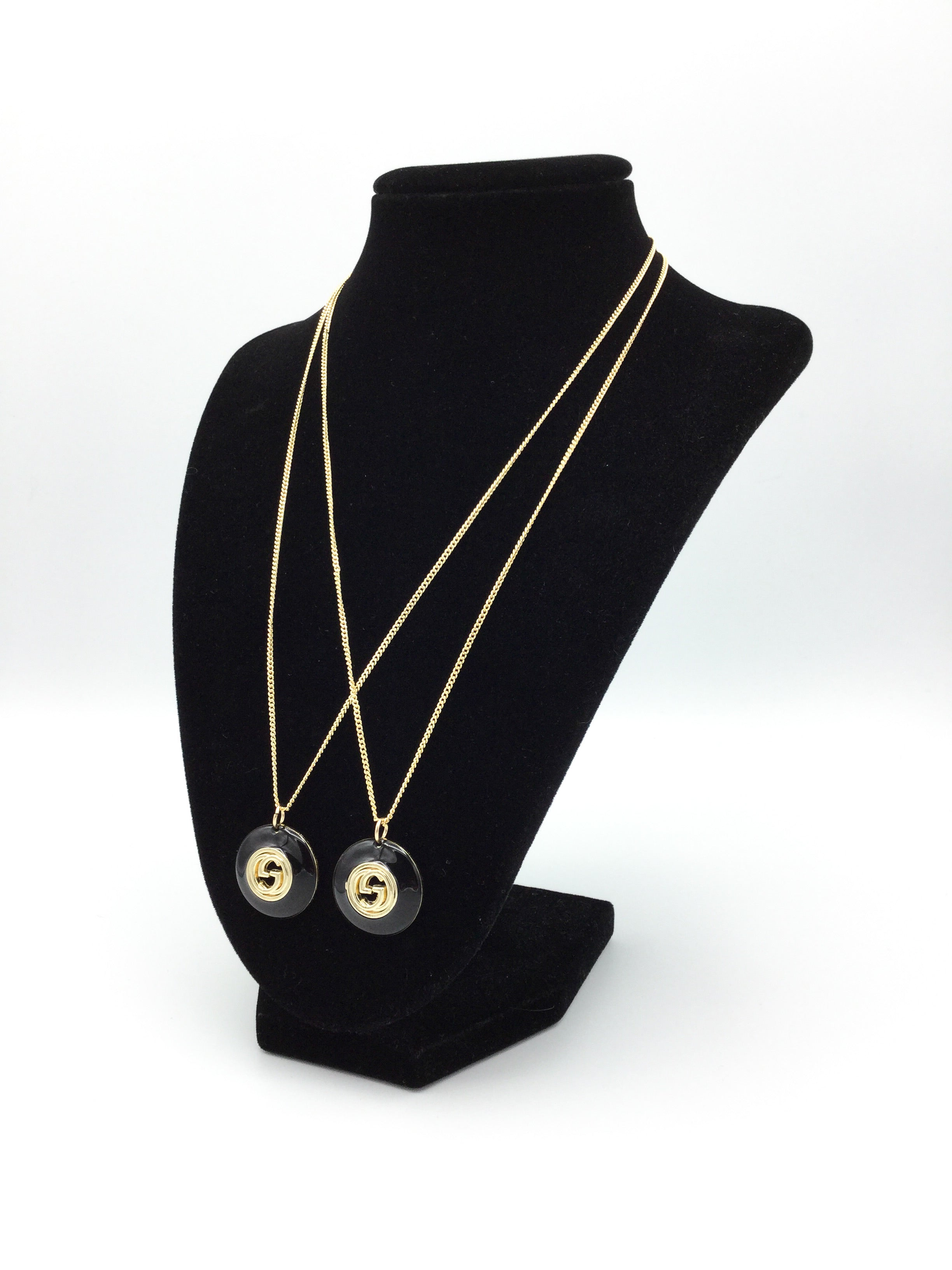 Black and Gold Button Necklace by Designer Therapy