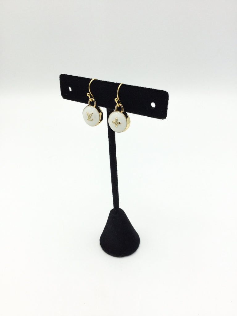 Pastillies Charm Earrings - White