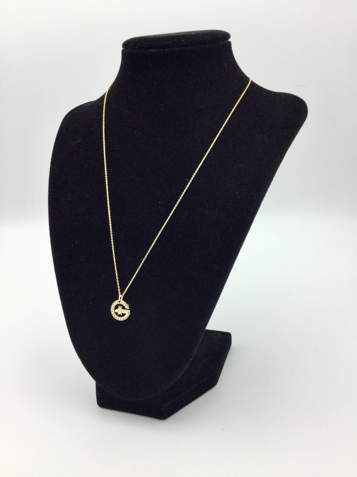 Bee Button Gold Filled Necklace