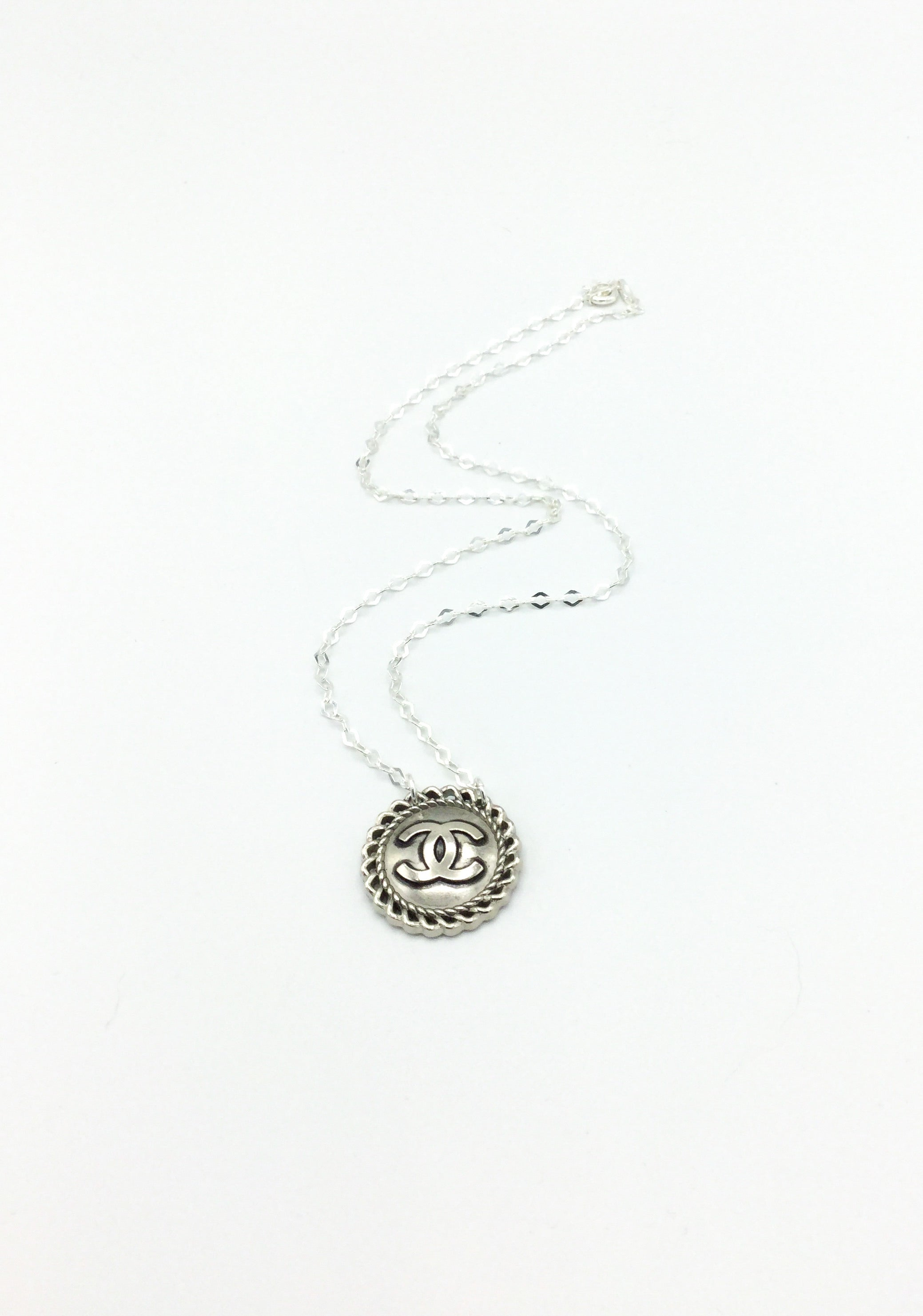 Antique-Style Designer Button Necklace