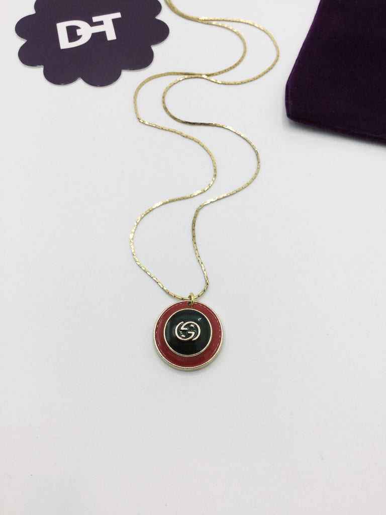 Signature Red and Green Button Necklace by Designer Therapy
