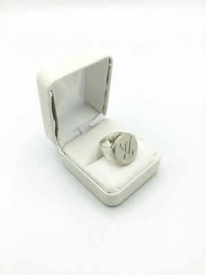 Silver Button Statement Ring