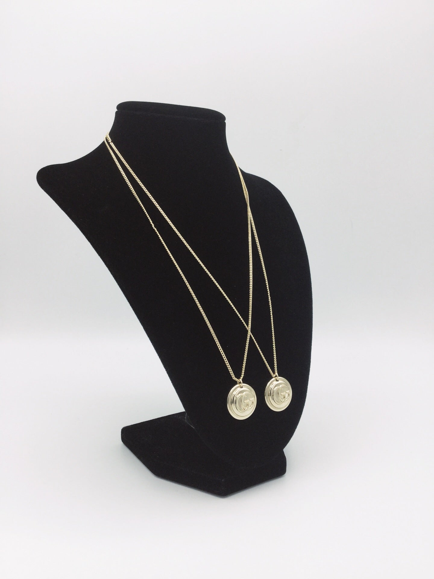 Gold Filled Button Necklace with logo