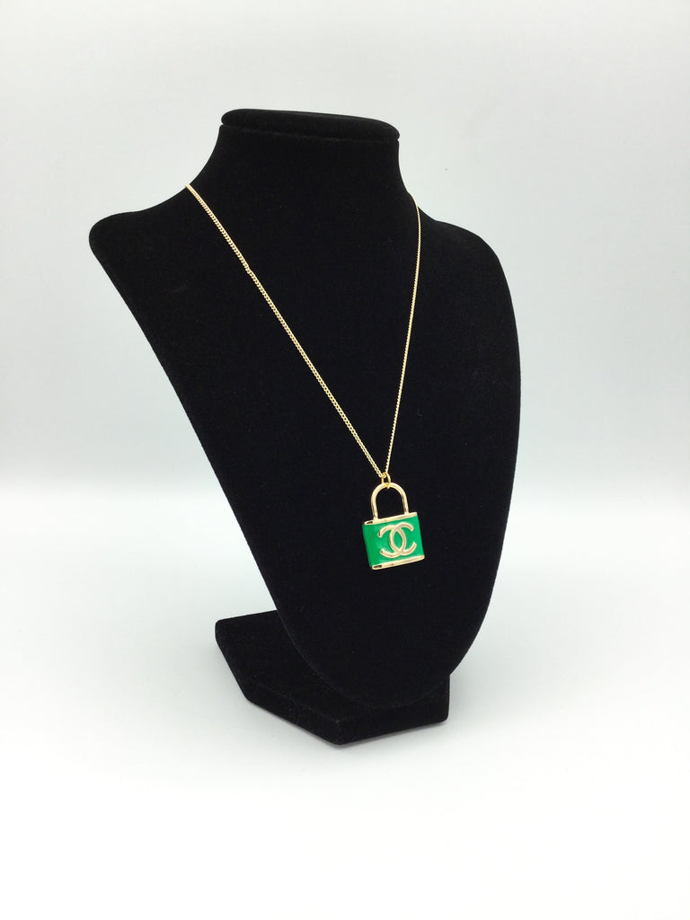 Holiday Designer Charm Lock Necklace