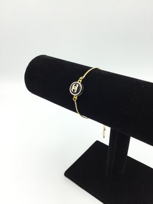 Designer Button Slider Bracelet
