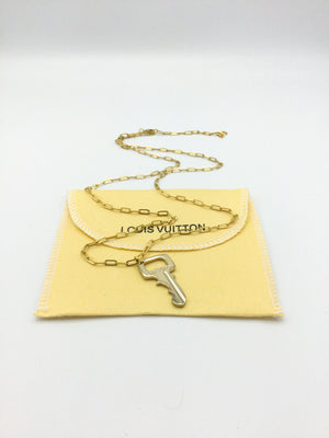 Designer Key Charm Paperclip Necklace