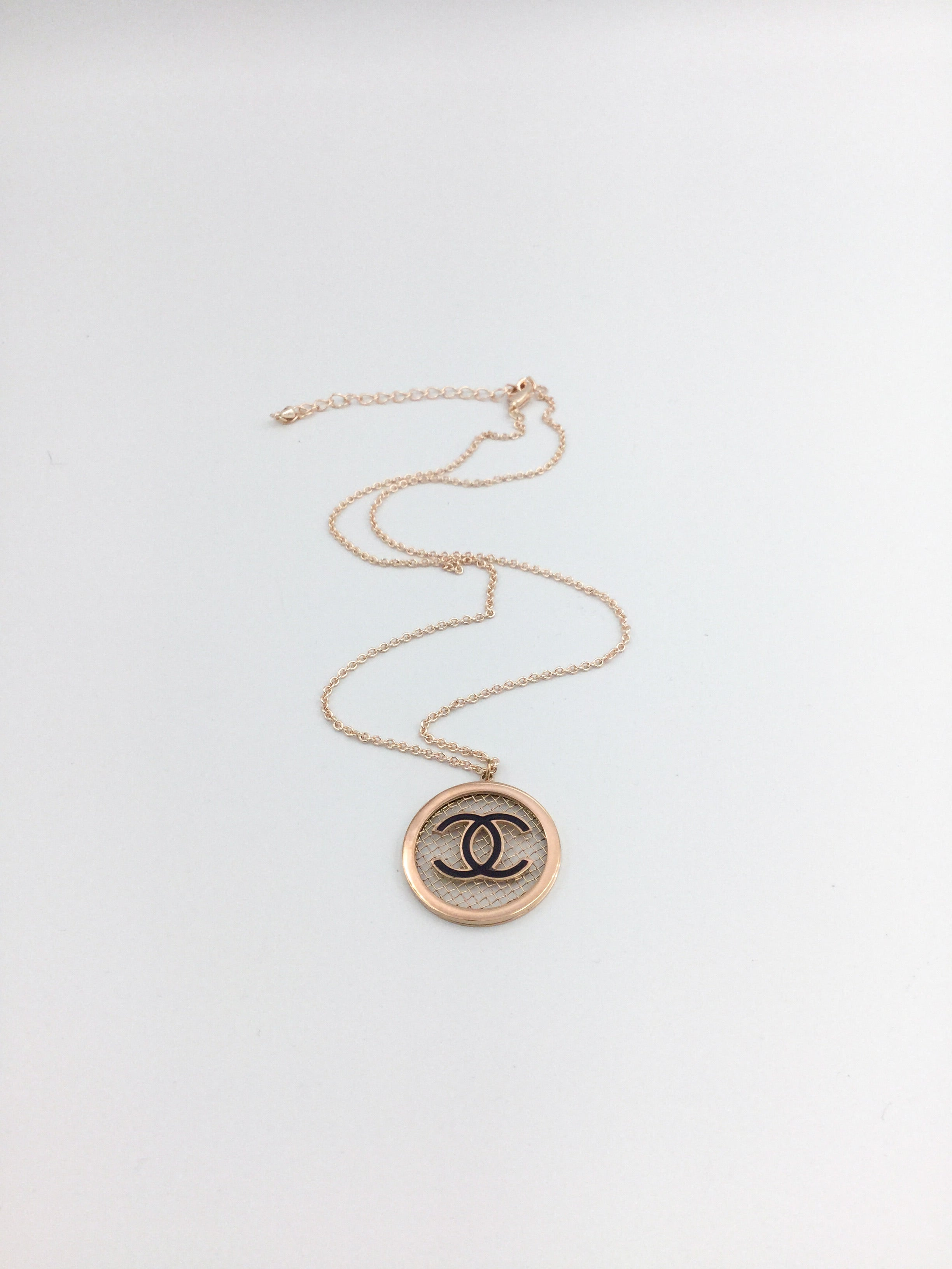 Rose Gold Designer Charm Necklace