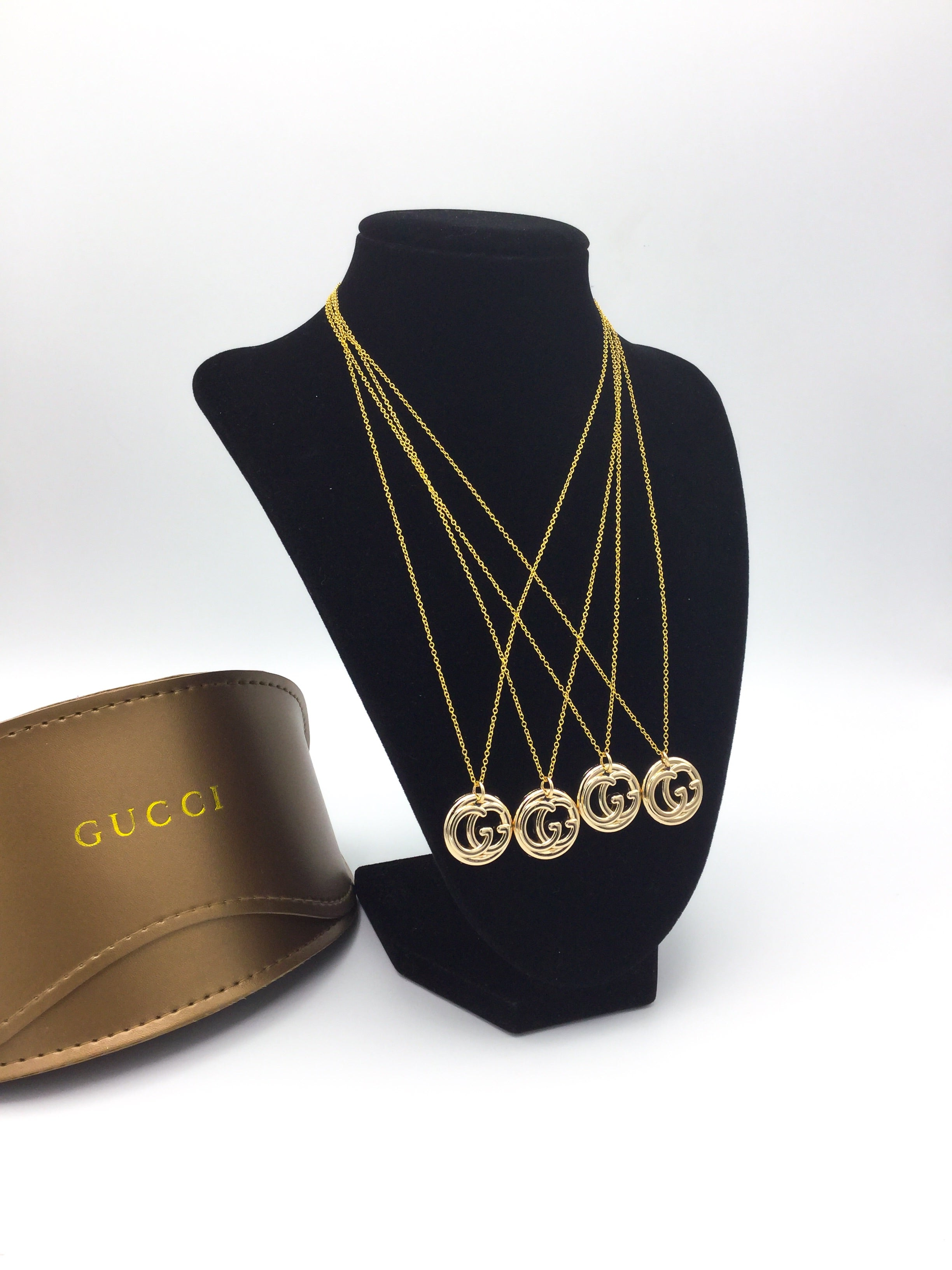 Gucci Cut-Out Button Necklace by Designer Therapy