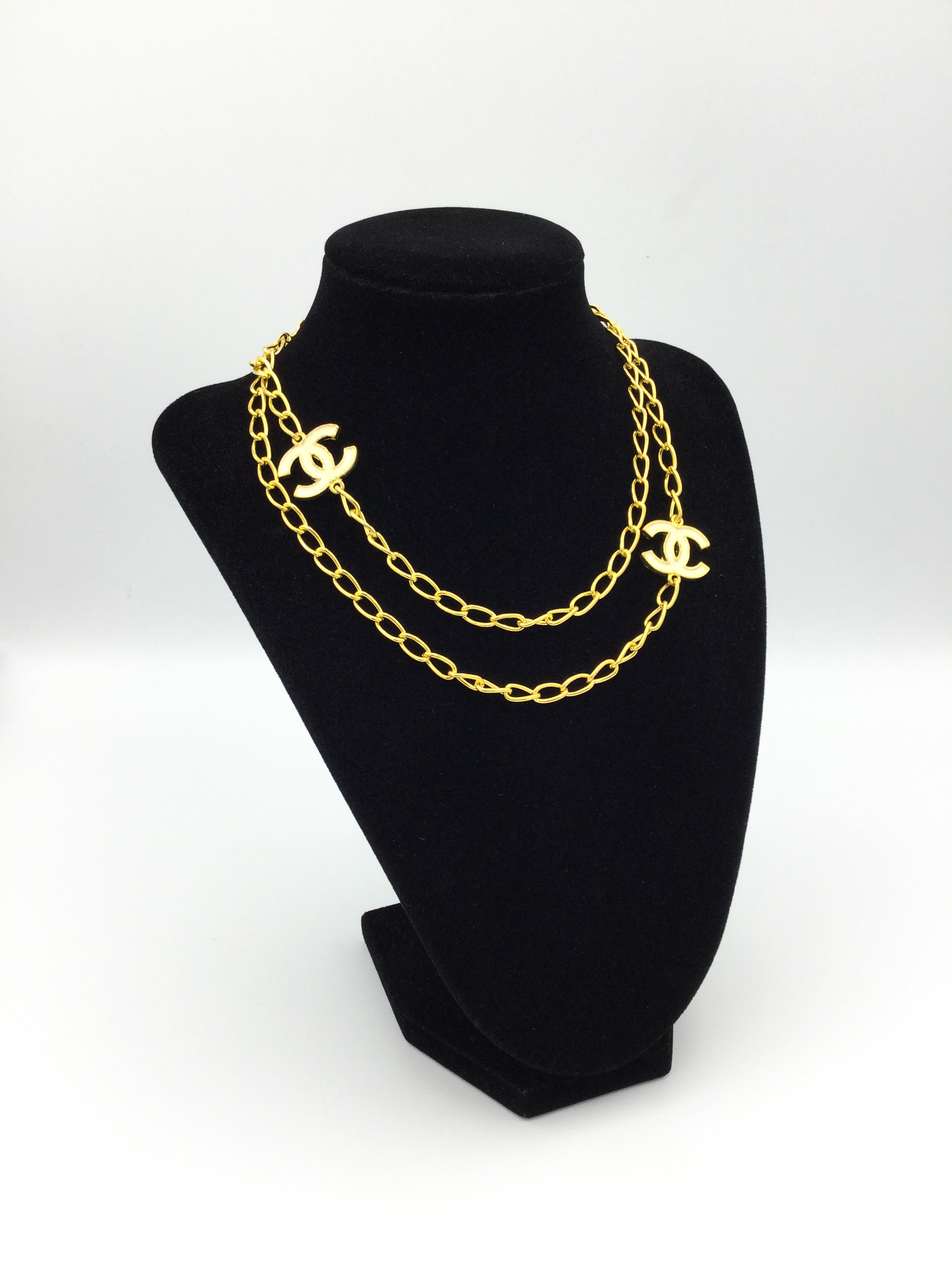 Gold Designer Charm Necklace
