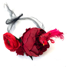 Headpiece Passion Red - Bird and Flowers