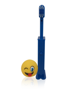 Brush Buddies Pez Poppin' Emoji Silly Face Toothbrush