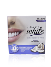 Load image into Gallery viewer, Ultimate White Whitening Dental Strips Infused With Coconut Oil 7 Day Treatment