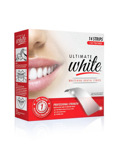 Ultimate White Whitening Dental Strips 7 Day Treatment