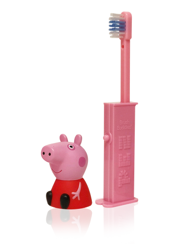 Brush Buddies Pez Poppin' Peppa Pig  Toothbrush