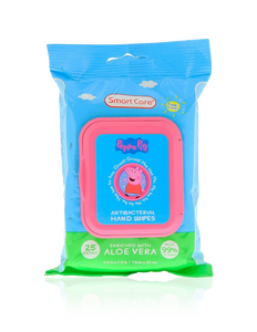 Smart Care Peppa Pig Antibacterial Wipes (25 Count)