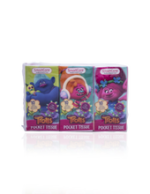 Load image into Gallery viewer, Smart Care Trolls Pocket Facial Tissues 6 Pack