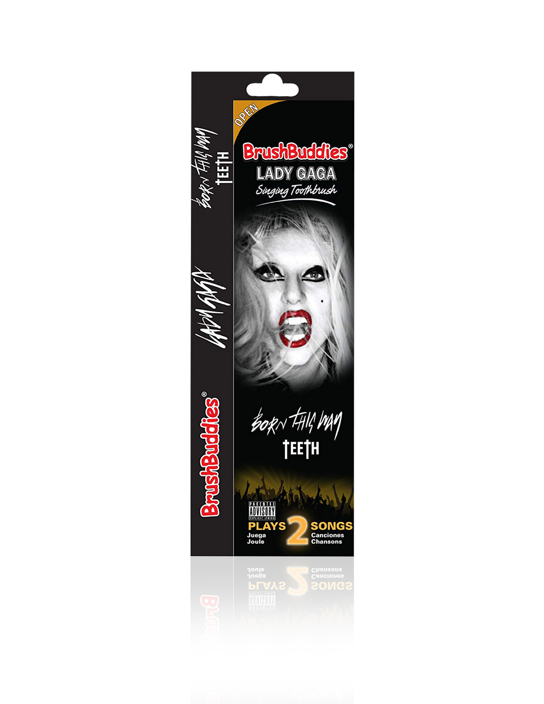 Lady Gaga singing toothbrush Featuring (Born This Way & Teeth)