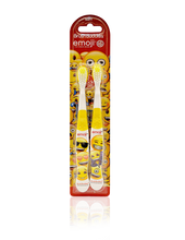 Load image into Gallery viewer, Brush Buddies Emoji Toothbrush 2 Pack