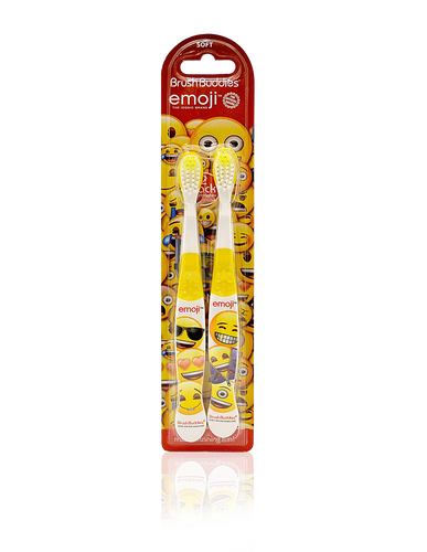 Brush Buddies Emoji Toothbrush (2 Pack)