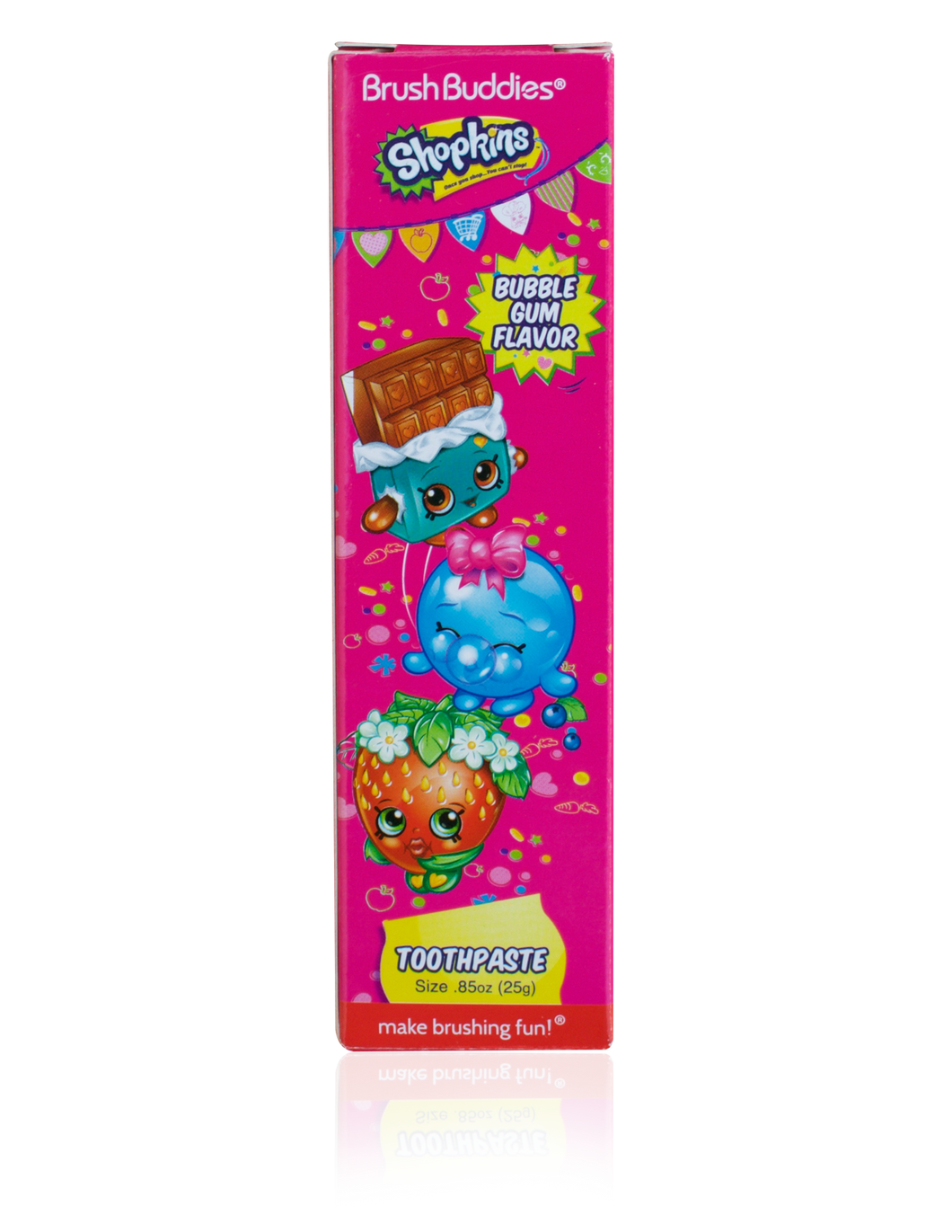 Brush Buddies Shopkins Bubble Gum Travel Toothpaste 0.85 oz