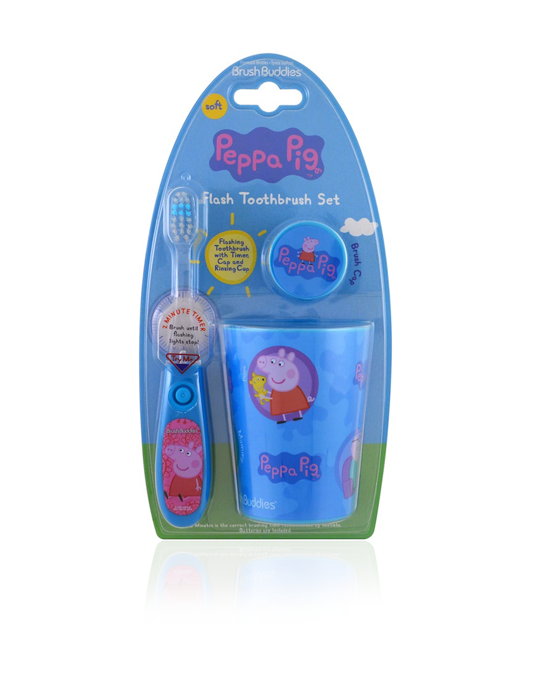 Brush Buddies Peppa Pig Flash Toothbrush Gift Set