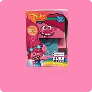 Trolls Cube Tissue Box - Case Pack 24 - Smart Care