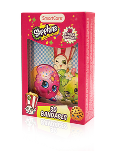 Smart Care Shopkins 3D Bandages 20 Count