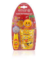 Load image into Gallery viewer, Brush Buddies Emoji Flash Toothbrush Gift Set