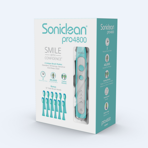 Soniclean Pro 4800 Rechargeable toothbrush + 12 Brush heads