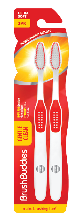 Brush Buddies Gentle Clean Toothbrush 2 Pack