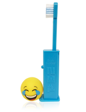 Load image into Gallery viewer, Brush Buddies Pez Poppin' Emoji LOL Toothbrush