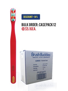 Brush Buddies Caress Enamel Care Toothbrush Case Pack - (12/24/48)