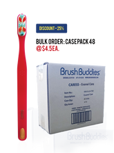 Load image into Gallery viewer, Brush Buddies Caress Enamel Care Toothbrush (12/24/48 Pack)