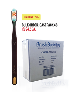 Brush Buddies Caress Whitening Toothbrush Case Pack - (12/24/48)