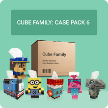 Load image into Gallery viewer, Cube Tissue Box Family (6 Pack)