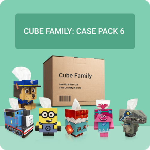 Cube Tissue Box Family (6 Pack)