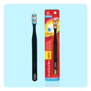 Brush Buddies Caress & Charcoal Combo (100% SOFT and NATURAL)
