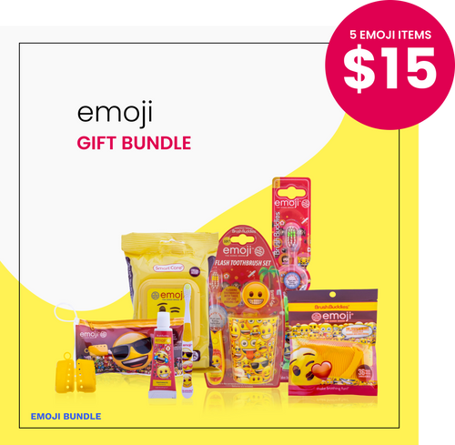 Brush Buddies Emoji GIFT BUNDLE | 5 Emoji Items in a Bundle