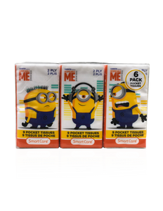 Smart Care Minions Pocket Tissue (6 Pack)