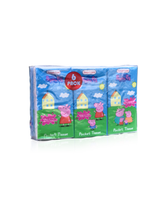 Smart Care Peppa Pig Pocket Facial Tissues (6 Pack)