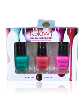 Load image into Gallery viewer, IGlow Nail Polish 3Pk (Shades - Sea Foam, Punch, Hot Pink)