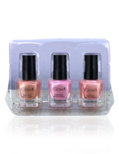 Load image into Gallery viewer, IGlow Nail Polish 3Pk (Shades - Peach, Taffy, Peach)