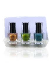 Load image into Gallery viewer, IGlow Nail Polish 3Pk (Shades - Cider, Emerald, Aegean)
