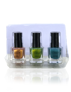 IGlow Nail Polish 3Pk (Shades - Cider, Emerald, Aegean)